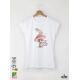 Mouse I AM Дамска бяла тениска с дизайнерски принт