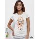 Dreamcatcher Акварел дамска бяла тениска с дизайнерски принт