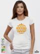Orange Art Дамска Бяла Тениска С Дизайнерски Принт