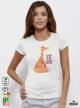 Fox I AM Дамска бяла тениска с дизайнерски принт