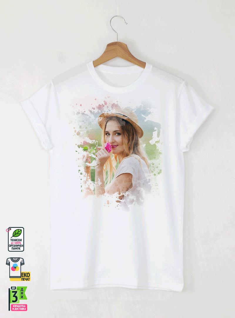 Мъжка Тениска По Собствен Дизайн Акварел