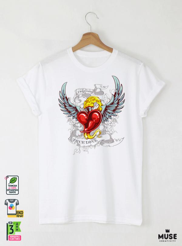 Tattoo Lover's Детска Бяла Тениска за момче с Дизайнерски Принт