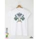 Tattoo Style Мъжка Бяла Тениска с Дизайнерски Принт