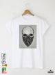 Skull Bandit Black Мъжка Бяла Тениска С Дизайнерски Принт Азиатски размер
