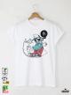 Hipster True Мъжка Бяла Тениска с Дизайнерски Принт