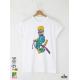 Ski Graffiti Boy Мъжка Бяла Тениска с Дизайнерски Принт