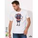Beach Boy Мъжка Бяла Тениска С Дизайнерски Принт Азиатски размер