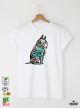 Bull Terrier Мъжка Бяла Тениска с Дизайнерски Принт