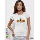 Aquarelle Halloween Pumpkin Дамска бяла тениска с дизайнерски принт