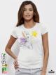 Aquarelle Fairy Rabbit Дамска бяла тениска с дизайнерски принт Азиатски Размер