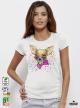 Aquarelle Chihuahua Дамска бяла тениска с дизайнерски принт Азиатски Размер