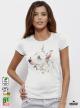 Aquarelle Bull Terrier Дамска бяла тениска с дизайнерски принт Азиатски Размер