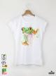 Aquarelle Frog Детска бяла тениска за момиче с дизайнерски принт