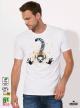 Aquarelle Lemur Мъжка Бяла Тениска с Дизайнерски Принт