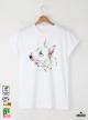 Aquarelle Bull Terrier Мъжка Бяла Тениска с Дизайнерски Принт