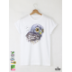 Aquarelle Owl Мъжка Бяла Тениска с Дизайнерски Принт