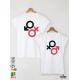 Mon Amour Тениски за двойки с дизайнерски принт