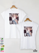 Later Me Тениски за двойки с дизайнерски принт