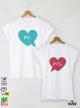 Mr. Ms. Heart Тениски за двойки с дизайнерски принт