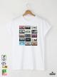 Music Тapes Мъжка Бяла Тениска С Дизайнерски Принт От Органичен Памук
