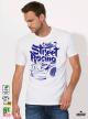 Street Racing Мъжка бяла тениска с дизайнерски принт