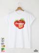 Summer Strawberry Мъжка бяла тениска с дизайнерски принт