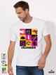 Summer Tools Мъжка бяла тениска с дизайнерски принт