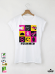 Summer Tools Дамска бяла тениска с дизайнерски принт