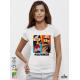 Erotik ARTs Дамска бяла тениска с дизайнерски принт