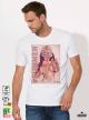Color the Summer Мъжка бяла тениска с дизайнерски принт