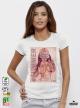 Color the Summer Дамска бяла тениска с дизайнерски принт