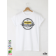 Push Harder Мъжка бяла тениска с дизайнерски принт