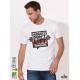 Do Not Lift Мъжка бяла тениска с дизайнерски принт