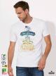 Summer Season Мъжка бяла тениска с дизайнерски принт