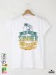 Summer Save Мъжка бяла тениска с дизайнерски принт