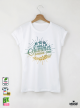 Summer Shell Дамска бяла тениска с дизайнерски принт