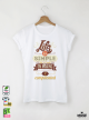 Life is Simple Дамска бяла тениска с дизайнерски принт