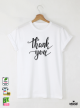 Thank Мъжка бяла тениска с дизайнерски принт