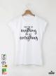 You Can Дамска бяла тениска с дизайнерски принт