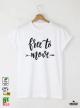 Free Move Мъжка бяла тениска с дизайнерски принт