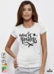 Fearless Дамска бяла тениска с дизайнерски принт