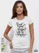 Good Reason Дамска бяла тениска с дизайнерски принтAmazing