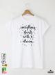 Everything Starts Мъжка бяла тениска с дизайнерски принт
