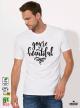 Beautiful Мъжка бяла тениска с дизайнерски принт