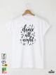 Dance Мъжка бяла тениска с дизайнерски принт
