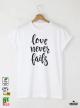 Fails Мъжка бяла тениска с дизайнерски принт