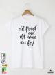 Wine Мъжка бяла тениска с дизайнерски принт