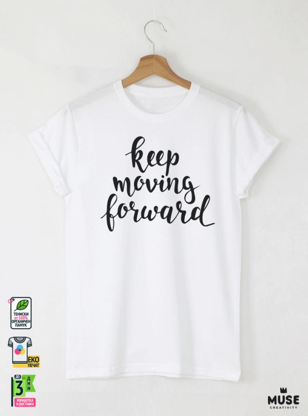 Forward Мъжка бяла тениска с дизайнерски принт