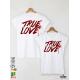 True Love Тениски за двойки с дизайнерски принт