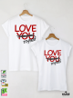 Myself Тениски за двойки с дизайнерски принт